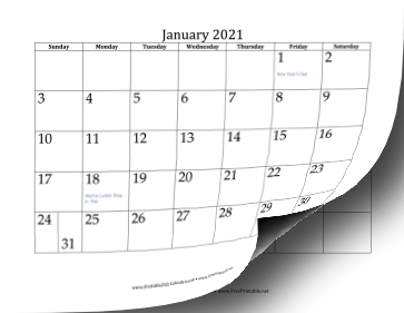 Printable 2021 Calendar (12 pages)