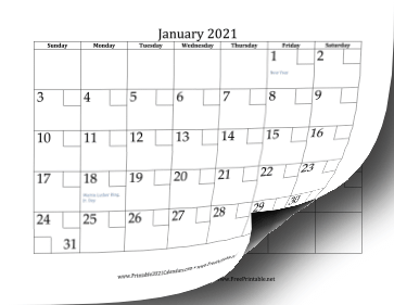 2021 with Checkboxes Calendar